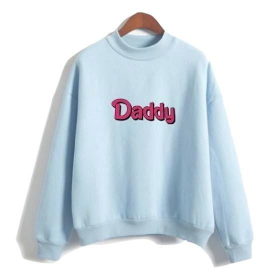 Blue Daddy Crewneck Sweater Pullover Sweatshirt Long Sleeve ABDL CGL Age Play DD/LG Kink Fetish Barbie by DDLG Playground
