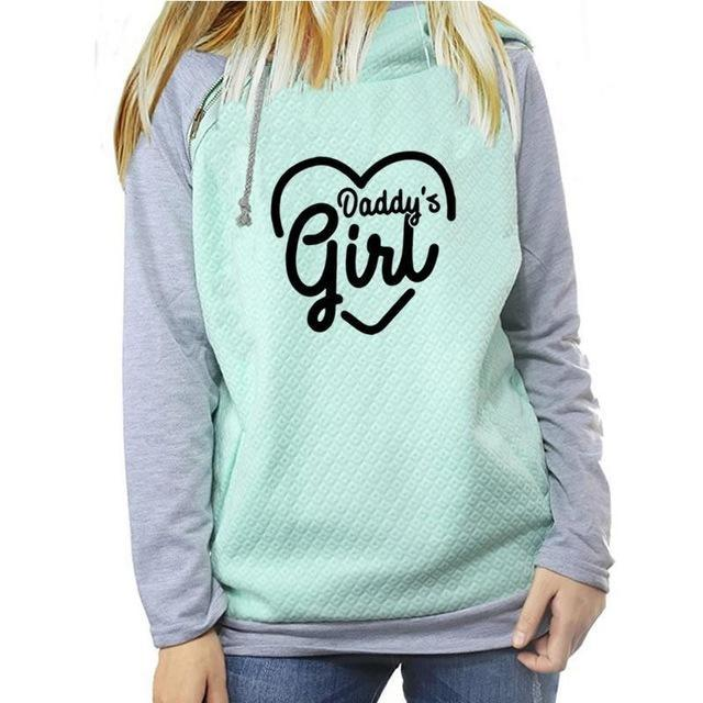 Daddys Girl Hoodie - Green / L - sweater