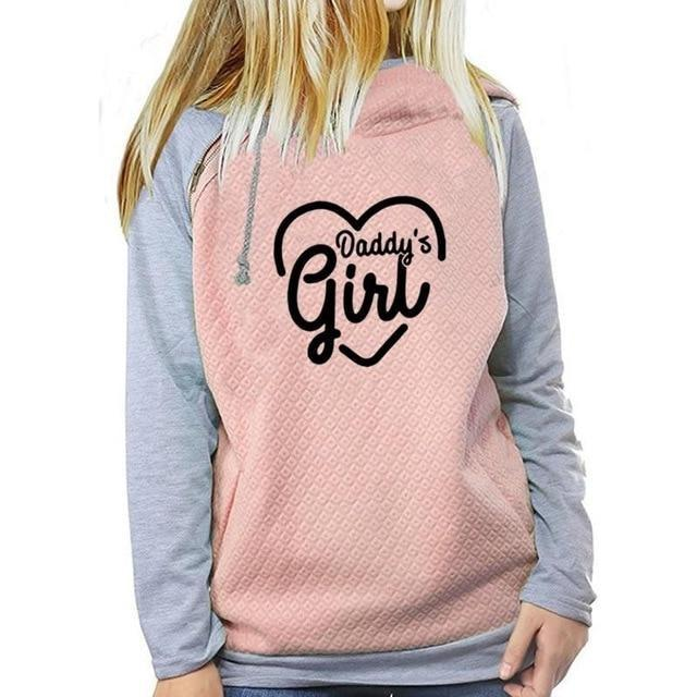 Daddys Girl Hoodie - Pink / XL - sweater
