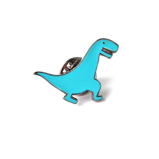 Blue T-Rex Dinosaur Enamel Pins Lapel Brooch Kidcore Youthful Little Space CGL ABDL by DDLG Playground