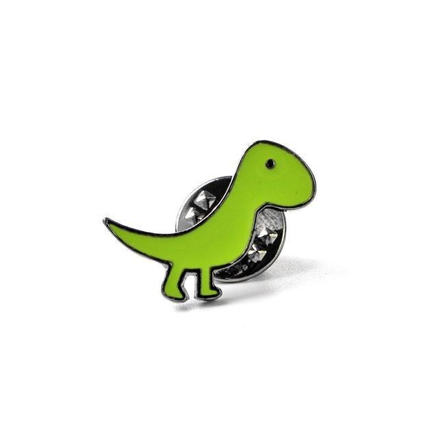 Tiny Green T-Rex Dinosaur Enamel Pins Lapel Brooch Kidcore Youthful Little Space CGL ABDL by DDLG Playground