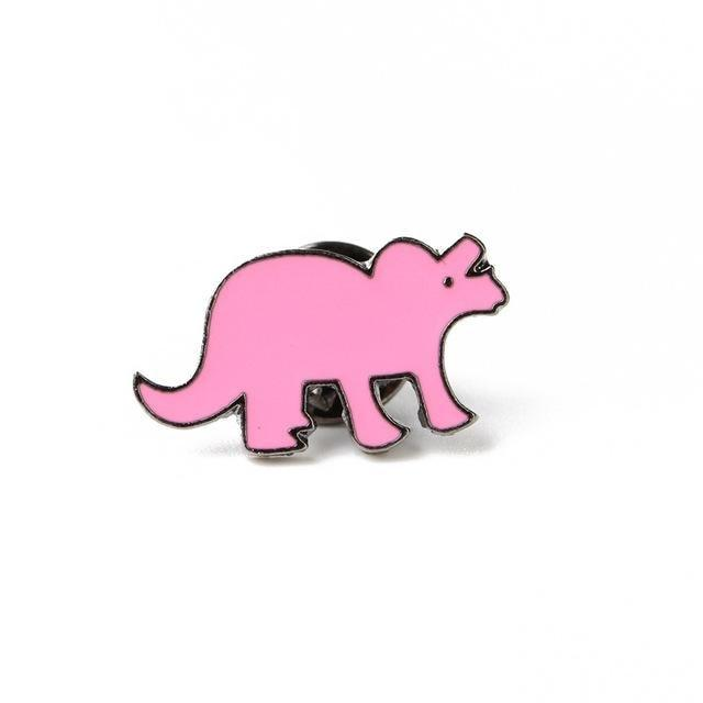 Pink Dinosaur Enamel Pins Lapel Brooch Kidcore Youthful Little Space CGL ABDL by DDLG Playground