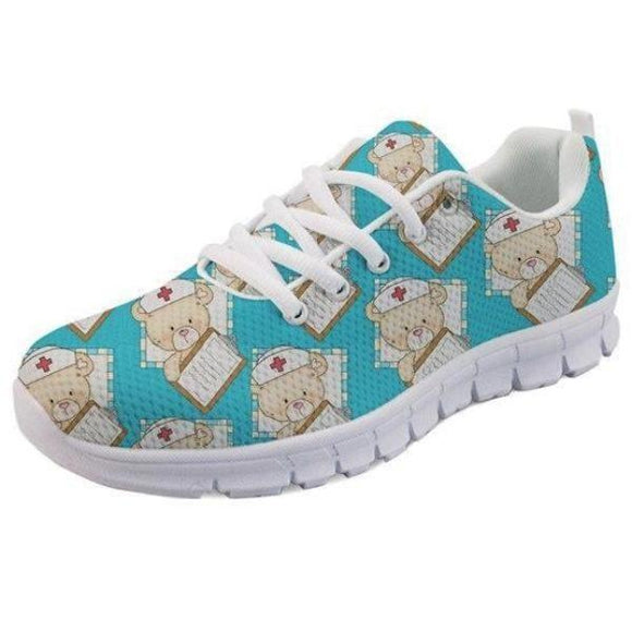 Doctor Teddy Bear Running Shoes Athletic Sneakers Medical Nurse Menhera Kei Kawaii Fashion