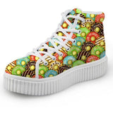 Green Donut Hi Top Shoes Chuck Taylor Inspired Hightop Sneakers Kawaii Fashion