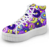 Purple Donut Hi Top Shoes Chuck Taylor Inspired Hightop Sneakers Kawaii Fashion