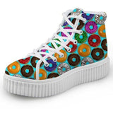 Blue Donut Hi Top Shoes Chuck Taylor Inspired Hightop Sneakers Kawaii Fashion