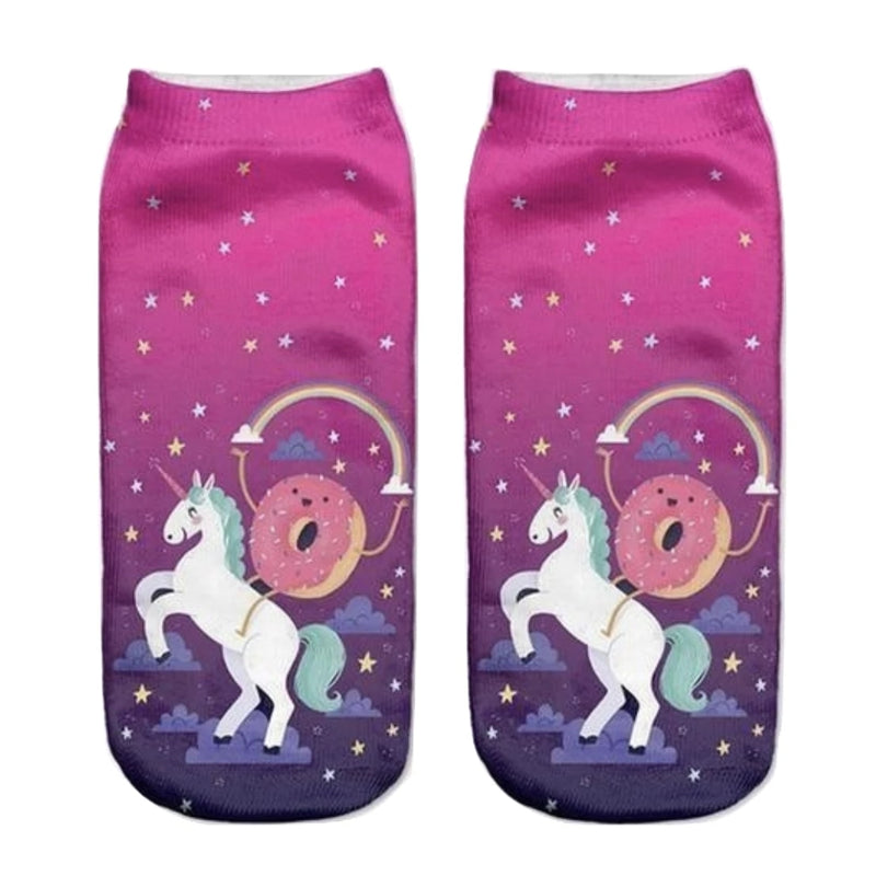 Donut Unicorn Socks - Socks