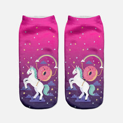 Donut Unicorn Womens Socks Kawaii Magical Enchanted My Little Pony