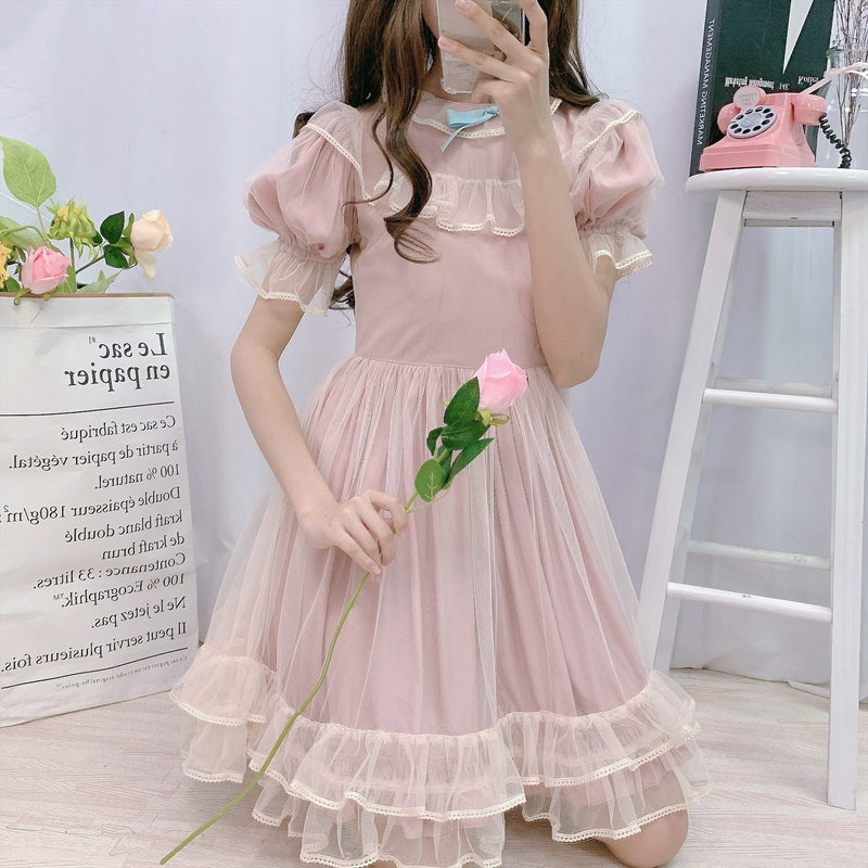 Dusty Pink Fairy Gown - dress