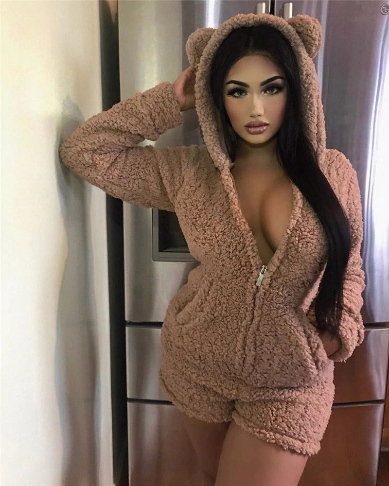 Furry Baby Bear Bodysuit