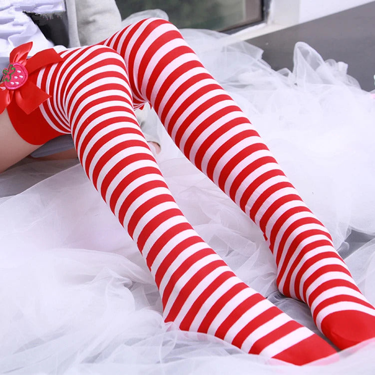 Strawberry Striped Stockings