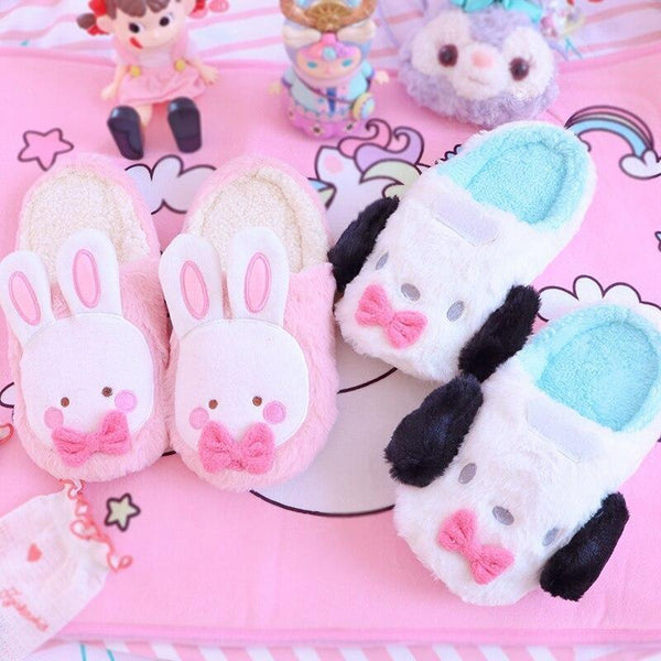 Fluffy Bun & Puppy Slippers - Set Of BOTH Pairs (Save $10) - shoes