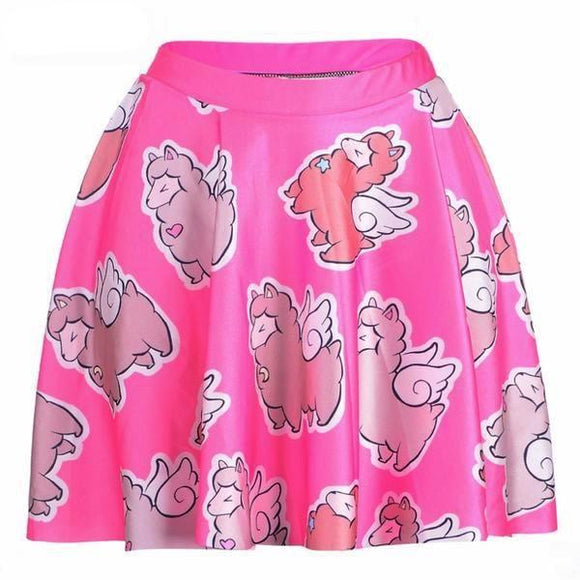Flying Llama Skirt - L - Skirt