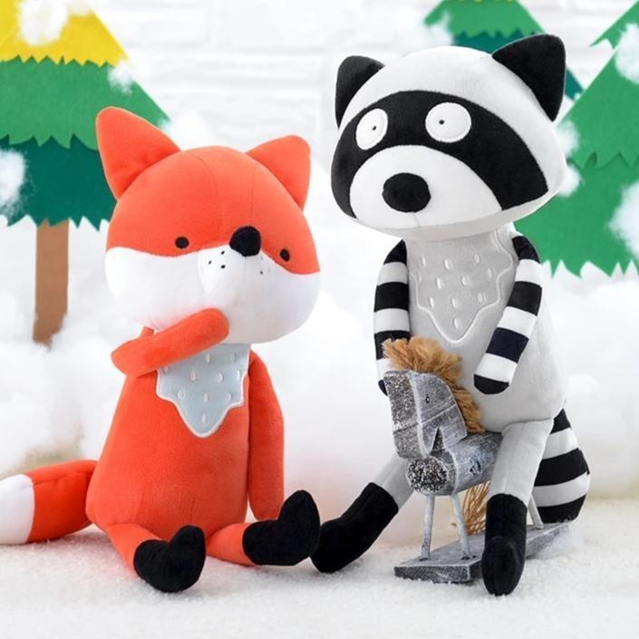 Fox & Coon Plushies - Set of Both (Save $10) - plush