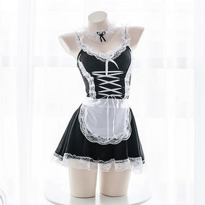 Sexy French Maid Roleplay Dress Lingerie Costume Cosplay Seductive Kinky Fetish