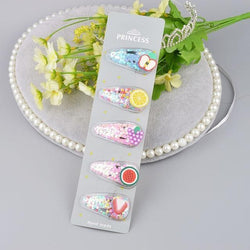 Fruity Glitter Hair Barrettes - Fruit Set 1 - hair accessory