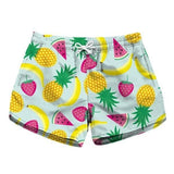 Fruit Tropical Food Athletic Shorts Kawaii Blue Short Shorts