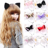 Kawaii Leopard Cat Furry Fox Ear Headband Pet Play Little Pet Fetish Kinky Vegan Soft Fuzzy Ears