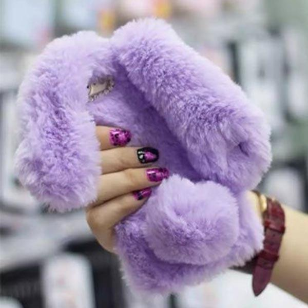 Fuzzy Bunny iPhone Case - For iPhone 5 5S SE / Purple - Phone Case