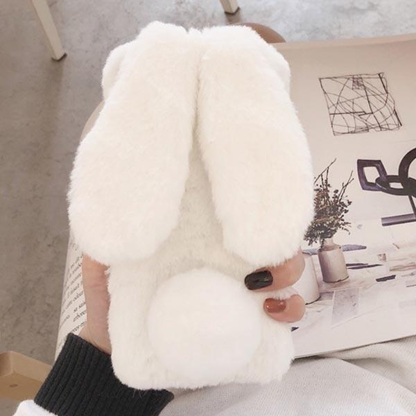 Fuzzy Bunny iPhone Case - For iPhone XS Max / White - Phone Case