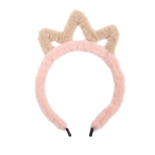 Fuzzy Ear Headbands - Brown Tiara - hair accessory