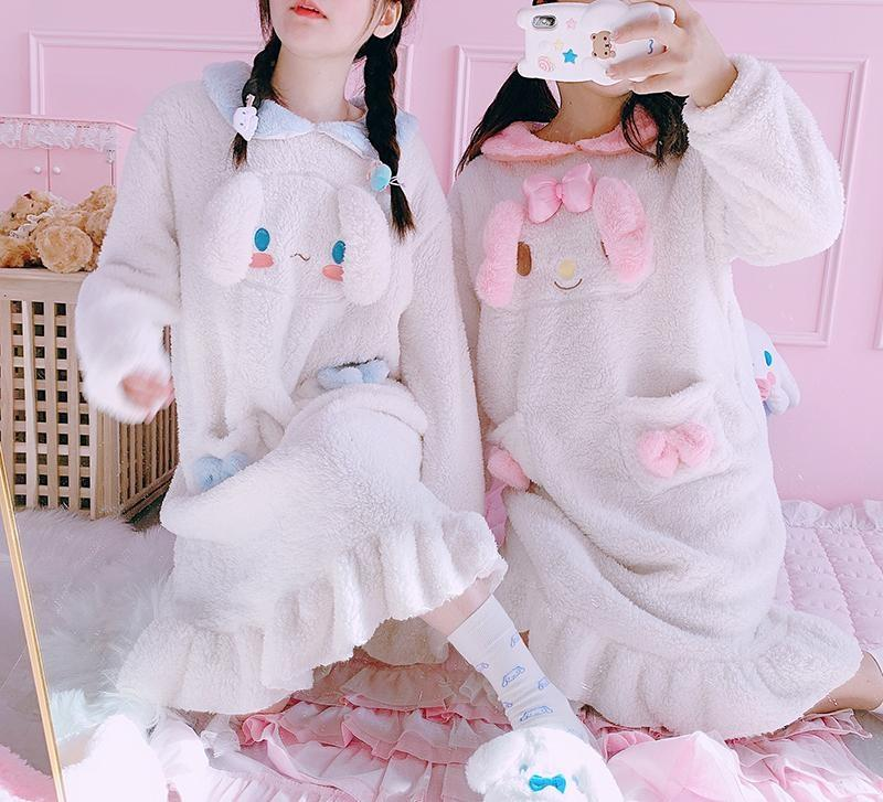 Fuzzy Melody Nightgown - pajamas