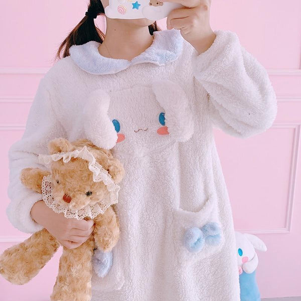 Fuzzy Melody Nightgown - Cinnamoroll - pajamas
