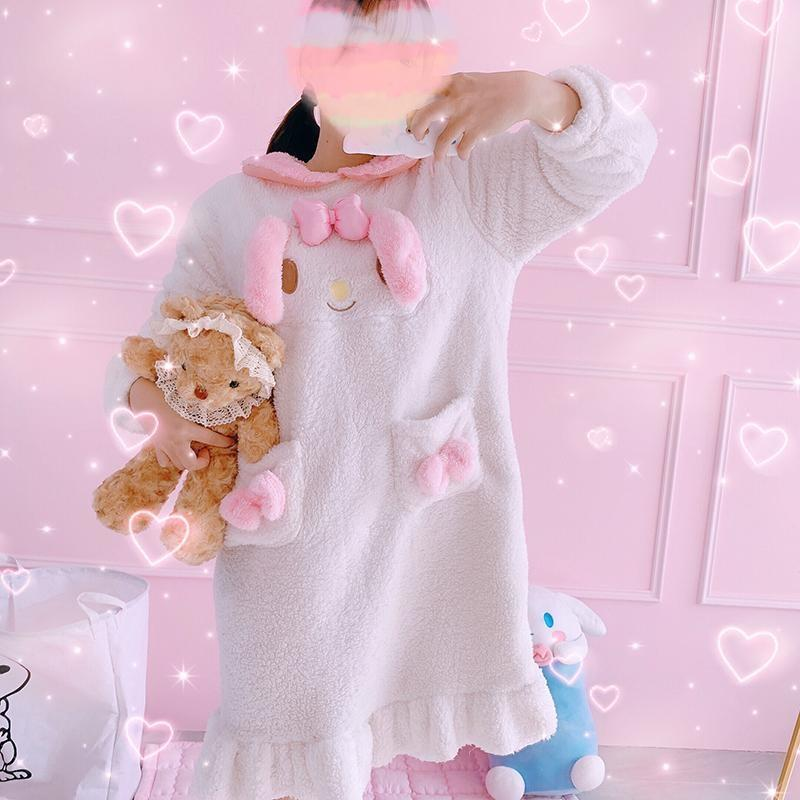 Fuzzy Melody Nightgown - My Melody - pajamas