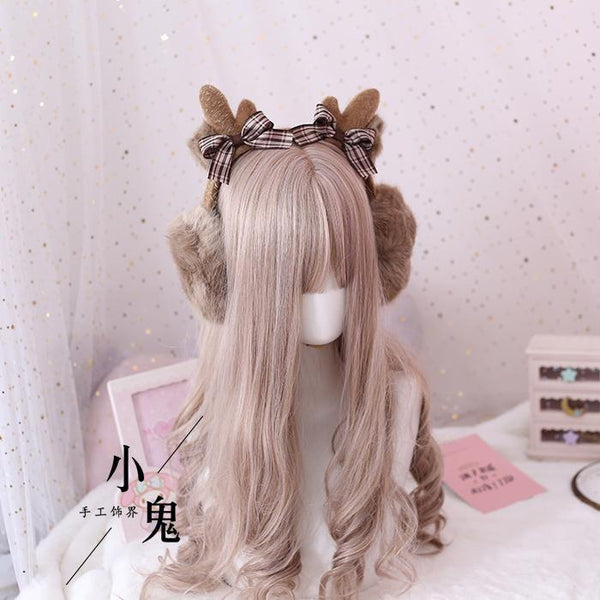 Fuzzy Reindeer Earmuffs - Brown Earmuffs - headband