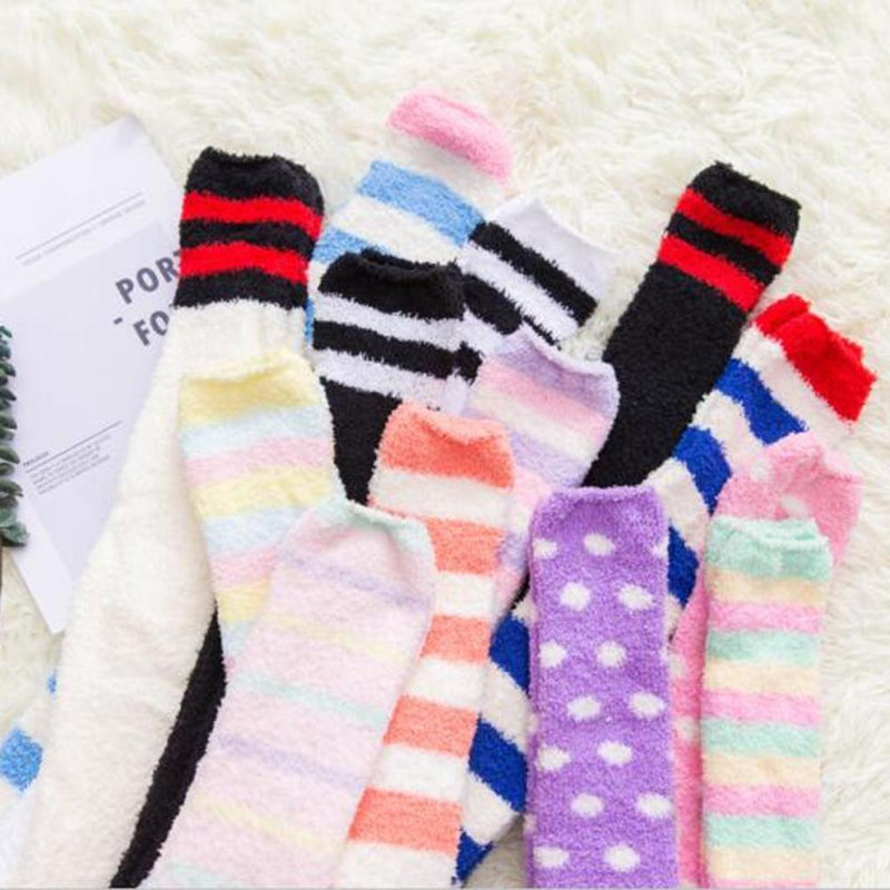 Fuzzy Soft Furry Thigh High Stockings Soft Socks Over The Knee Kawaii Soft Furry