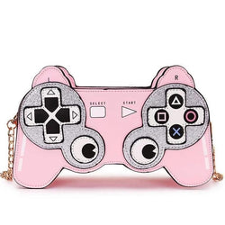 Pink Playstation Controller 3D Handbag Glitter Purse Kawaii Bag