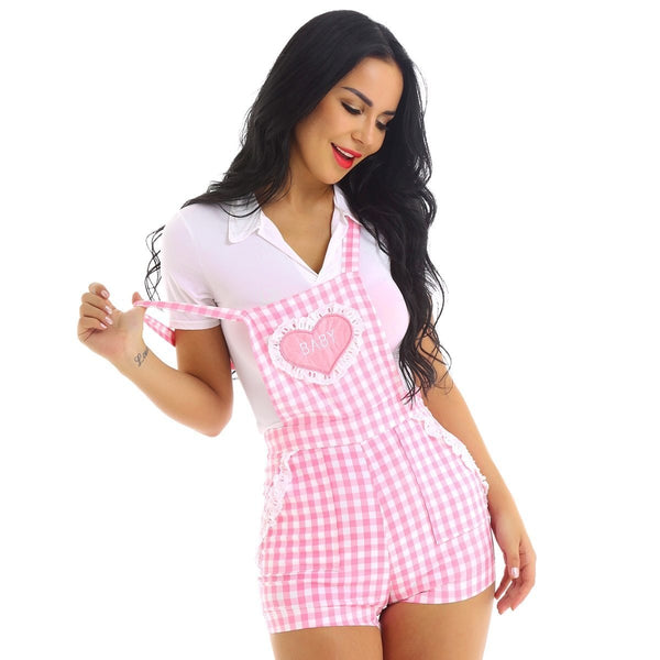 Gingham Baby Overalls - XL - coveralls
