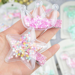 Glitter Confetti Clippies - hair clips