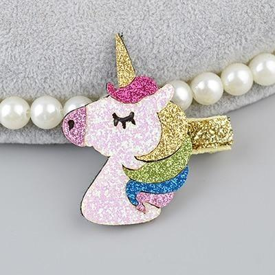 Kawaii Glitter Unicorn Hair Clips Barrettes Cute Fashion Little Space Hairpins Clip On Accessories