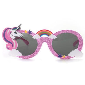 Glitter Unicorn Shades - Pink Black Lenses - Glasses