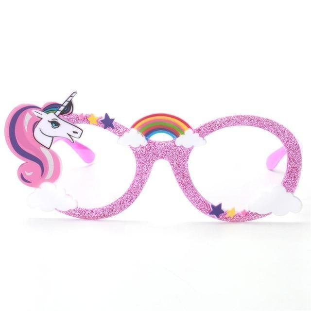 Glitter Unicorn Shades - Pink Clear Lenses - Glasses