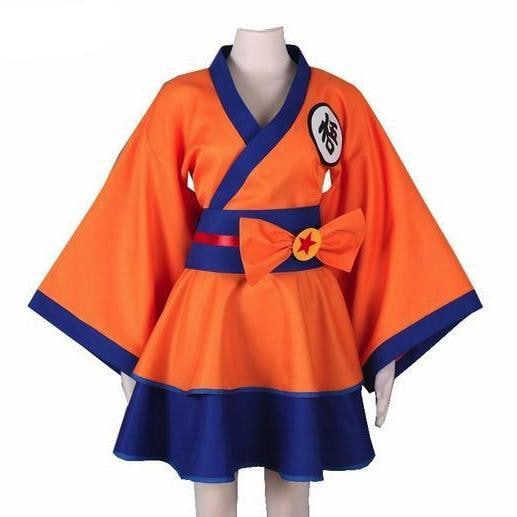 Dragonball Z Goku Cosplay Kimono Dress Crossplay Costume Naruto Anime Convention