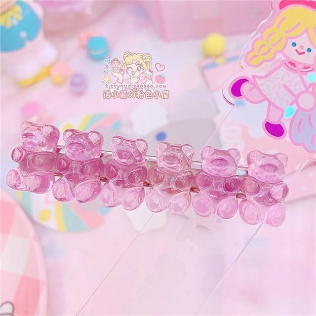 Gummy Bear Hair Clippies - Pinky-Purple - accessories