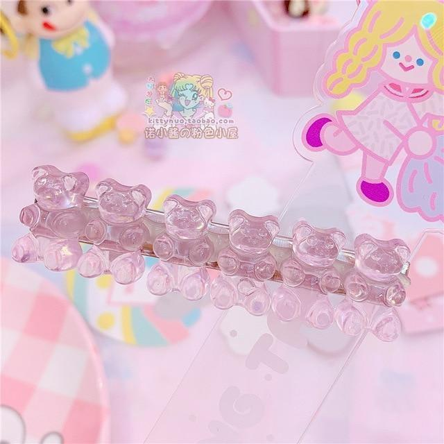 Gummy Bear Hair Clippies - Very Light Pink - accessories