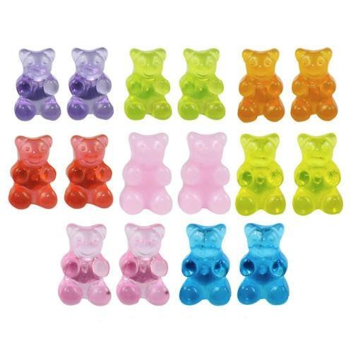 Kawaii Gummy Bear Candy Stud Earrings Cute Jelly Resin