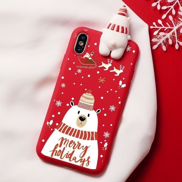 Holiday Critters iPhone Case - For iPhone 11 Pro / Snowman - phone case