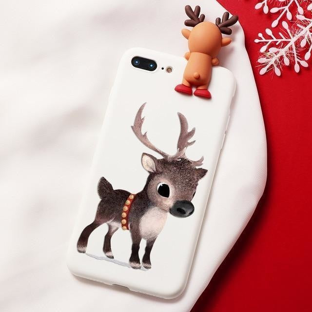Holiday Critters iPhone Case - For iPhone 11 Pro / Tiny Reindeer - phone case