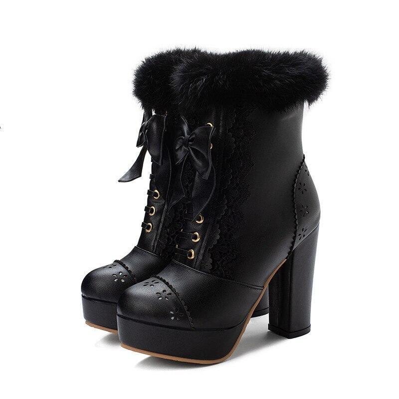 Holiday Lolita Booties - Black / 12.5 - boots