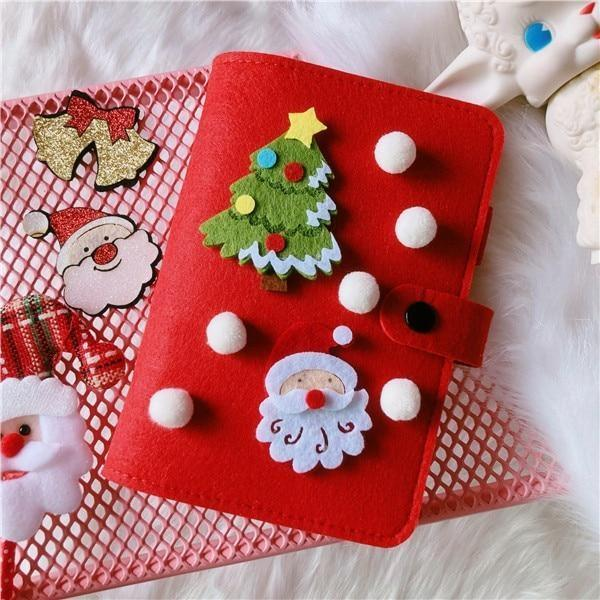 Holiday Notebooks - Red - chrismas, christmas, christmas blouse, diary, journal