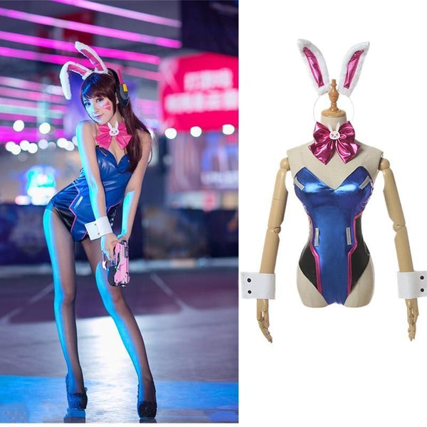 Holographic D.VA Cosplay Set - bikini, bikinis, bra, cosplay, cosplayer