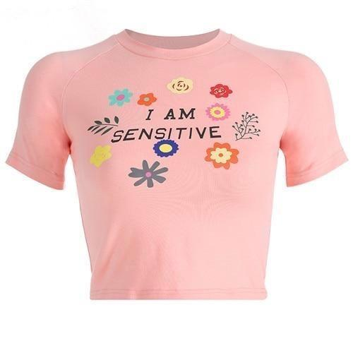 I Am Sensitive Crop Top - shirt