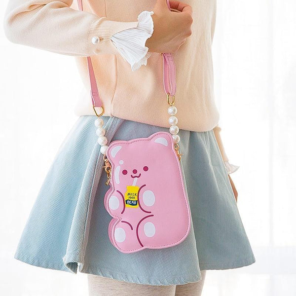 Jelly Bear Bag - Pink Bear - top