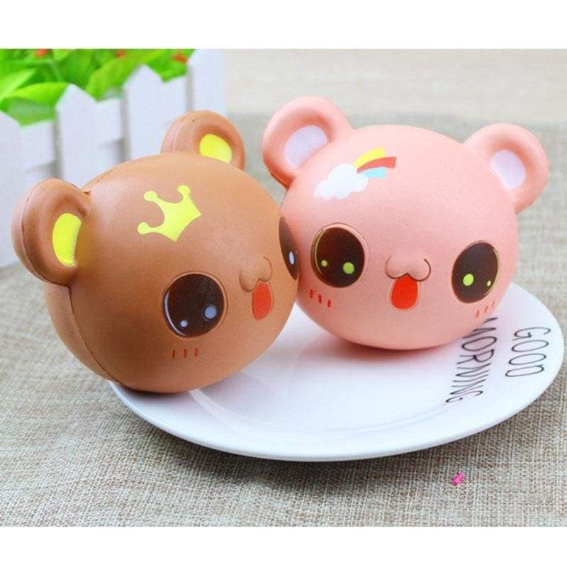 Kawaii Teddy Bear Squeeze Toy Squishy Soft Stress Relief Ball Cute Face ABDL CGL by DDLG Playground