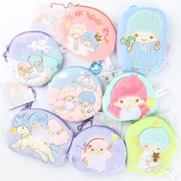 Sanrio Little Twin Stars Kiki Lala Coin Purse Bag Zippered Zipper Pouch Fairy Kei Kawaii Babe