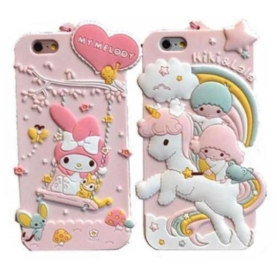 Sanrio Little Twin Stars My Melody iPhone Phone Case Mobile Luxury 3D RUbber Shock Proof Durable Kawaii Fairy Kei Pastel Aesthetic